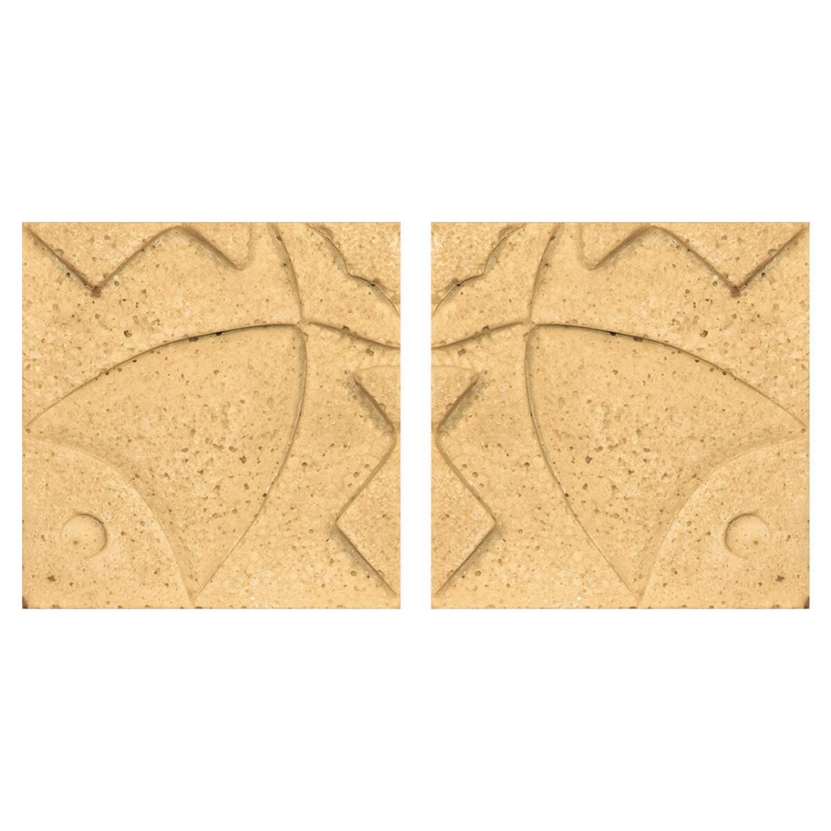 دیوارپوش تندیس و پیکره شهریار مدل آمای کد W1010-13 بسته 2 عددی
