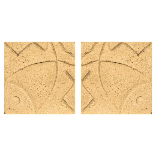 دیوارپوش تندیس و پیکره شهریار مدل آمای کد W1010-14 بسته 2 عددی