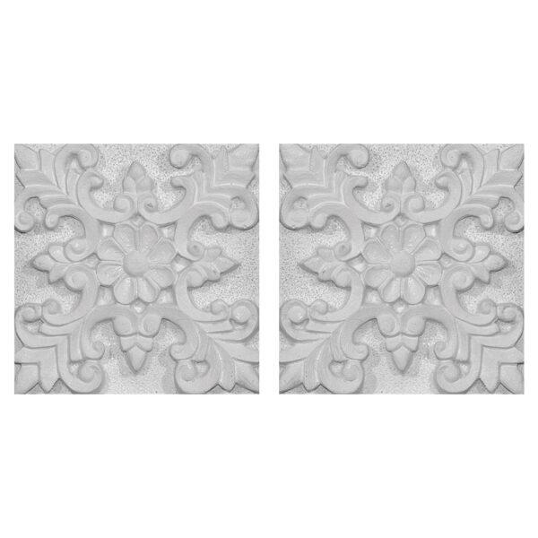 دیوارپوش تندیس و پیکره شهریار مدل آمای کد W1010-22 بسته 2 عددی