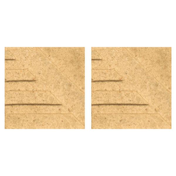 دیوارپوش تندیس و پیکره شهریار مدل آمای کد W1010-07 بسته 2 عددی