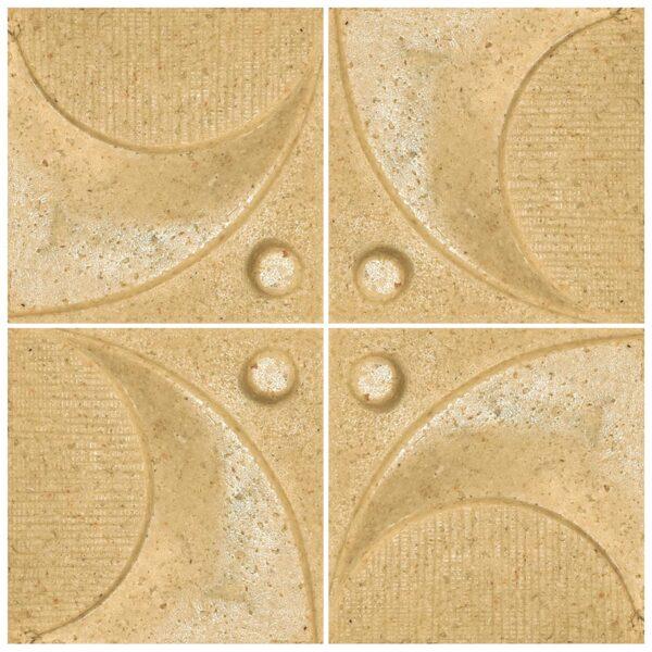 دیوارپوش تندیس و پیکره شهریار مدل آمای کد W1010-03 بسته 4 عددی