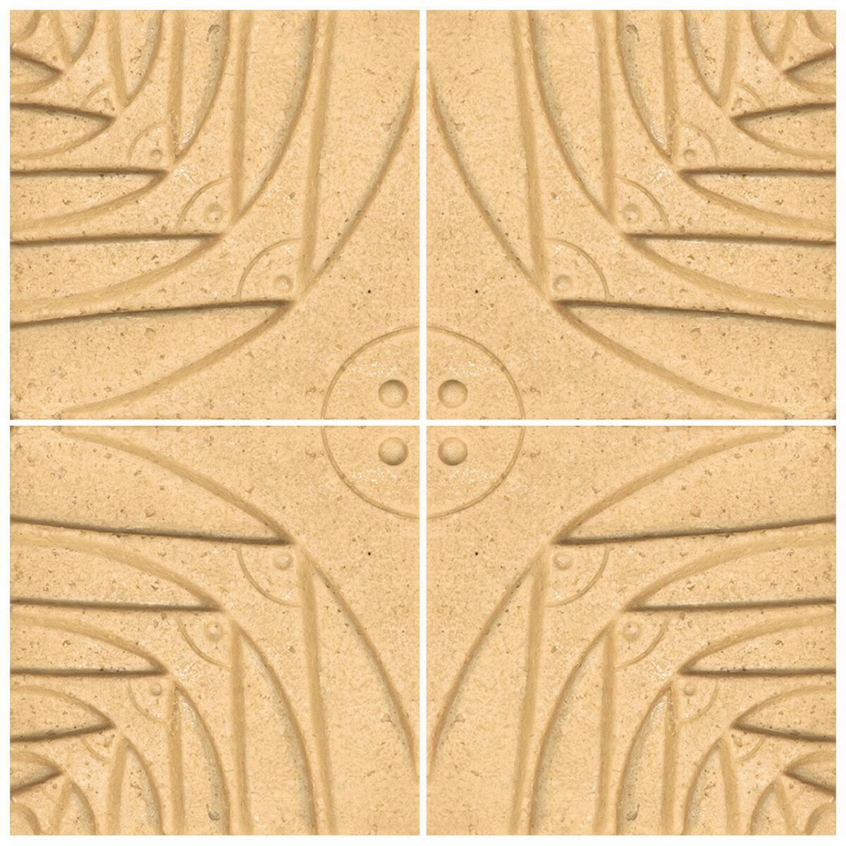 دیوارپوش تندیس و پیکره شهریار مدل آمای کد W1010-04 بسته 4 عددی