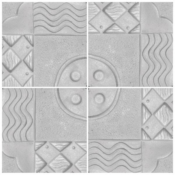 دیوارپوش تندیس و پیکره شهریار مدل آمای کد W1010-05 بسته 4 عددی