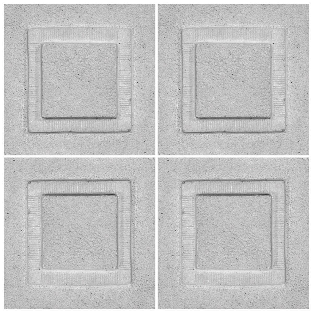 دیوارپوش تندیس و پیکره شهریار مدل آمای کد W1010-16 بسته 4 عددی