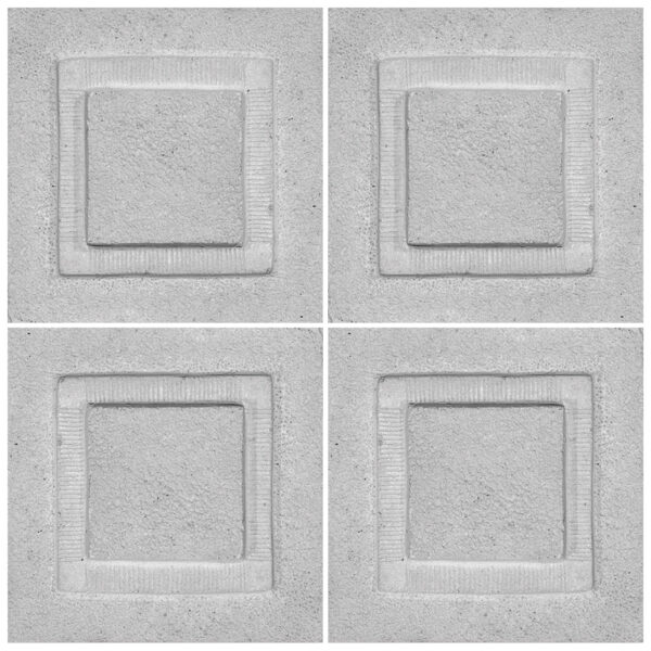دیوارپوش تندیس و پیکره شهریار مدل آمای کد W1010-15 بسته 4 عددی