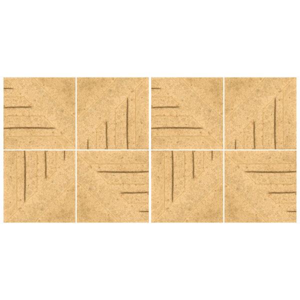 دیوارپوش تندیس و پیکره شهریار مدل آمای کد W1010-05 بسته 8 عددی