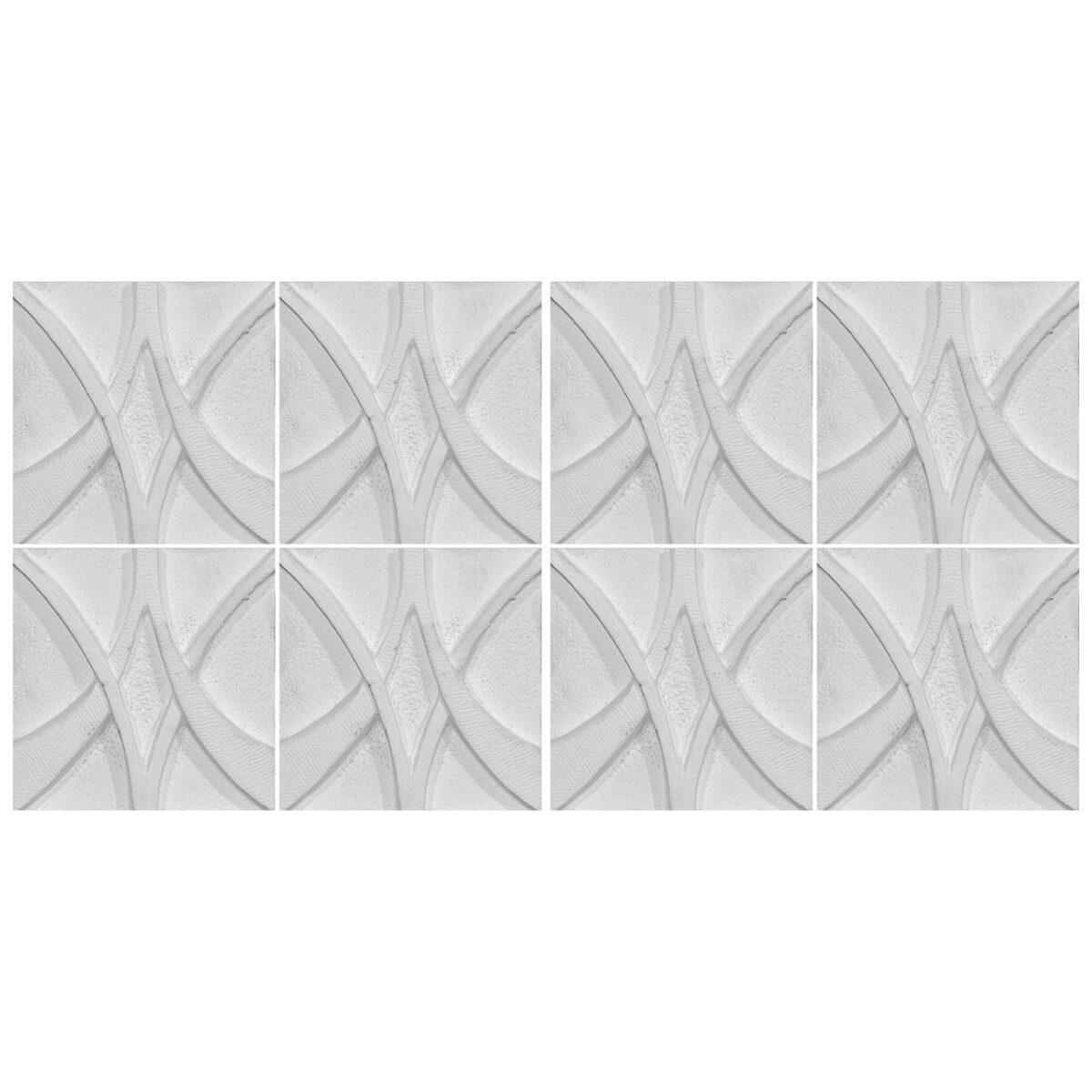 دیوارپوش تندیس و پیکره شهریار مدل آمای کد W1010-10 بسته 8 عددی