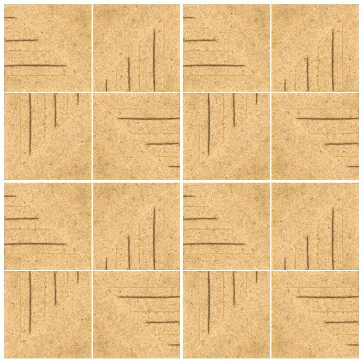 دیوارپوش تندیس و پیکره شهریار مدل آمای کد W1010-06 بسته 16 عددی
