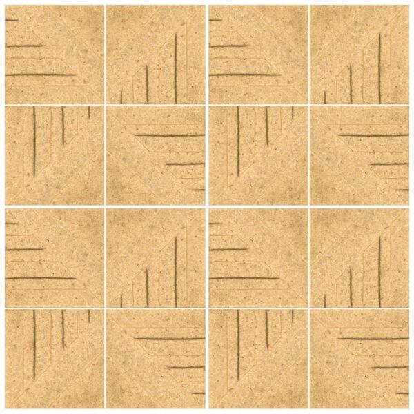 دیوارپوش تندیس و پیکره شهریار مدل آمای کد W1010-07 بسته 16 عددی