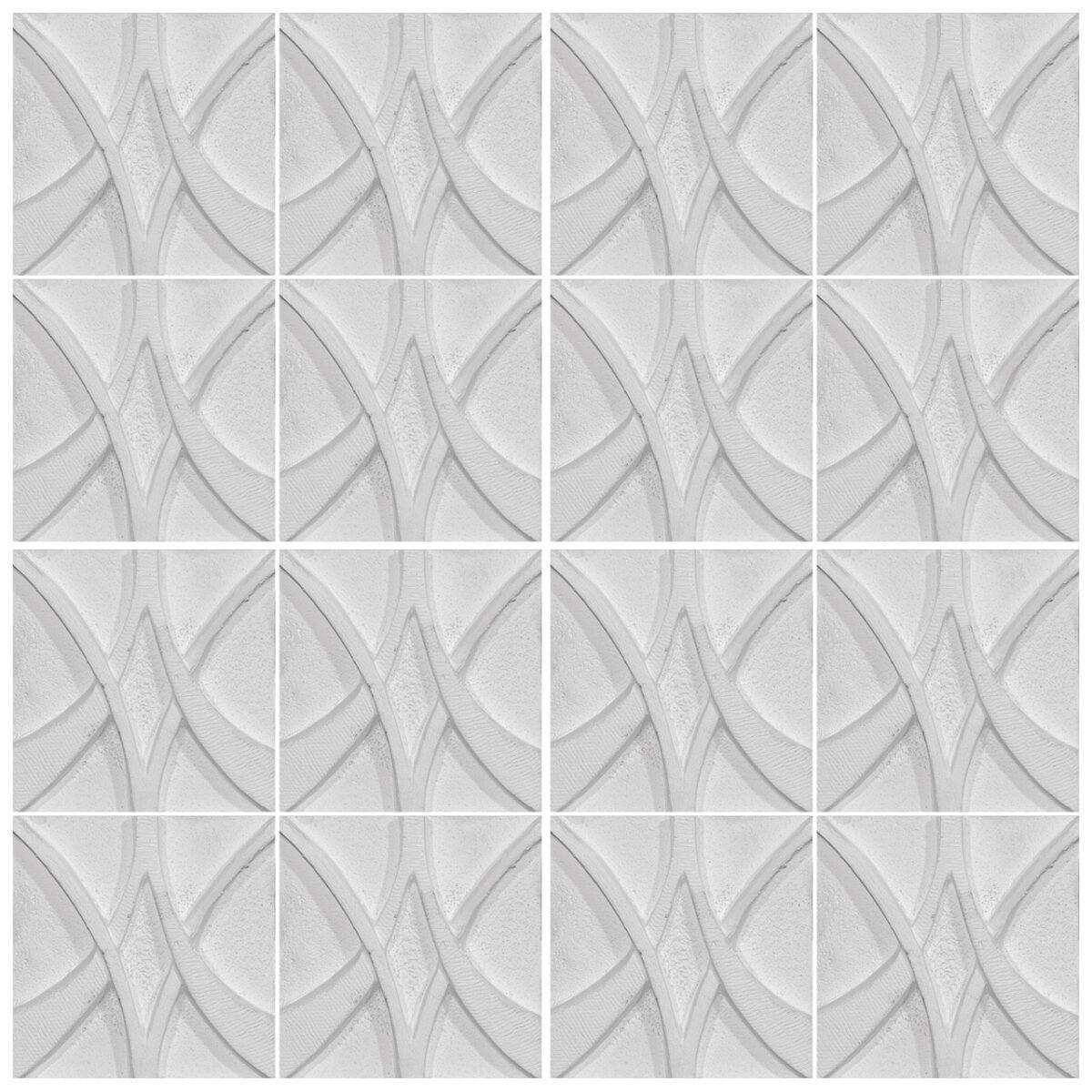 دیوارپوش تندیس و پیکره شهریار مدل آمای کد W1010-10 بسته 16 عددی