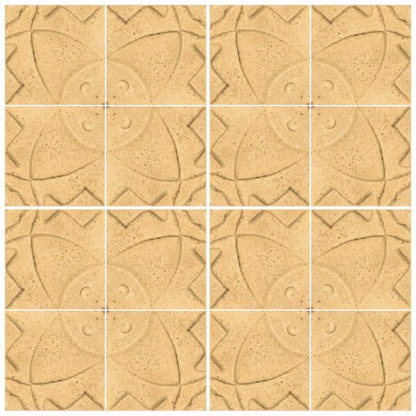 دیوارپوش تندیس و پیکره شهریار مدل آمای کد W1010-13 بسته 16 عددی