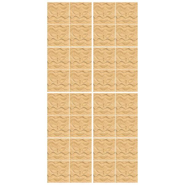 دیوارپوش تندیس و پیکره شهریار مدل آمای کد W1010-02 بسته 32 عددی