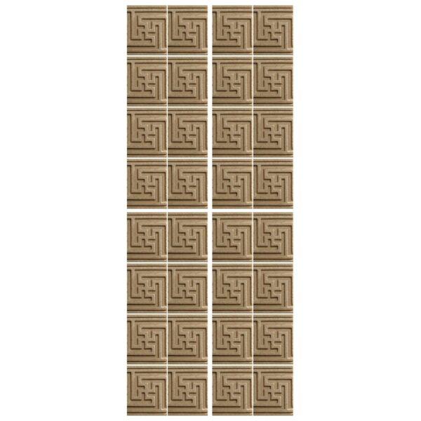 دیوارپوش تندیس و پیکره شهریار مدل آمای کد W1512-01 بسته 32 عددی