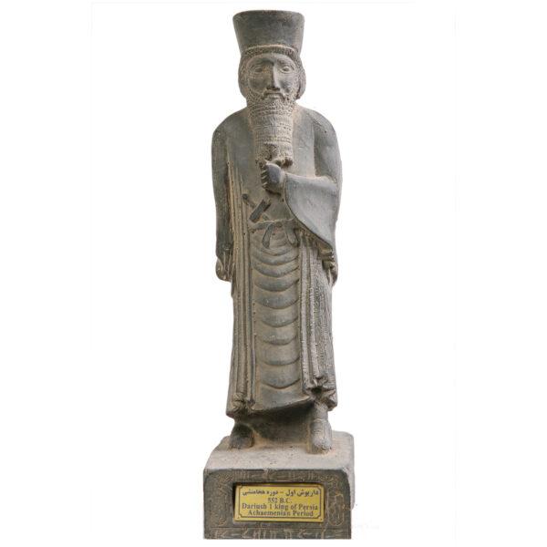 مجسمه تندیس و پیکره شهریار مدل تندیس داریوش ایستاده کد MO260 سایز متوسط