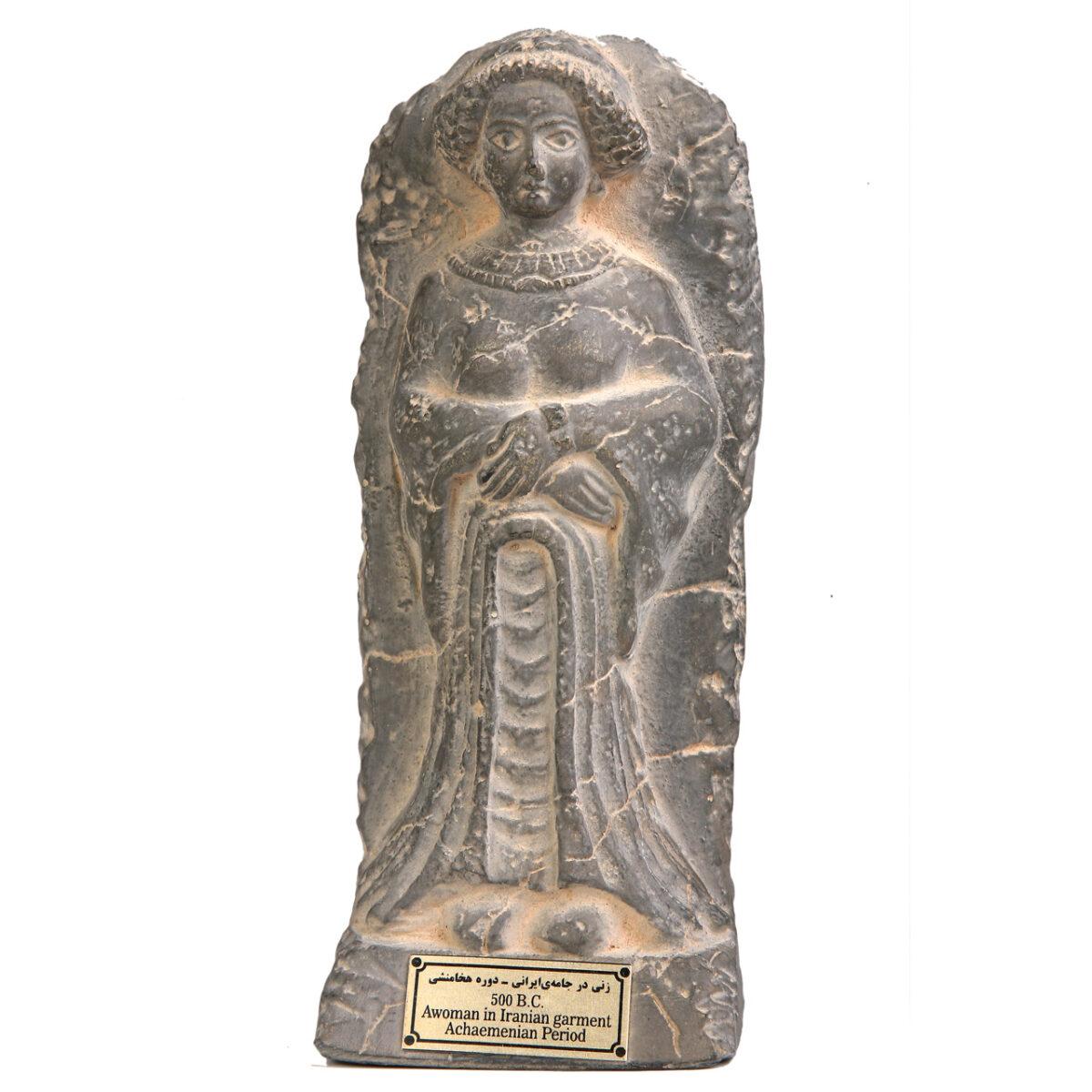 مجسمه تندیس و پیکره شهریار مدل تندیس زنی در جامعه ایرانی کد MO470