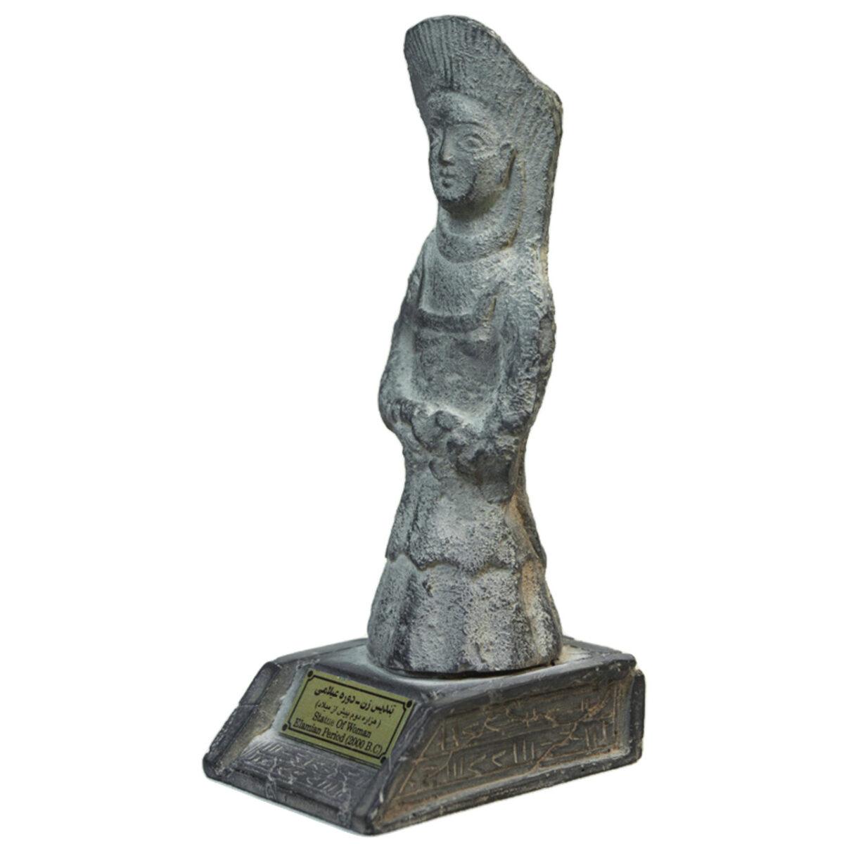 مجسمه تندیس و پیکره شهریار مدل تندیس زن عیلامی کد MO590