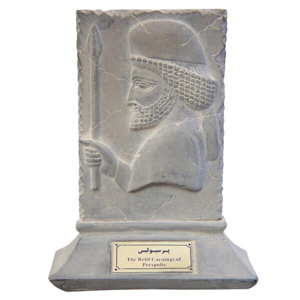 مجسمه تندیس و پیکره شهریار مدل لوح جنگ با هیولا پرسپولیس کد MO960