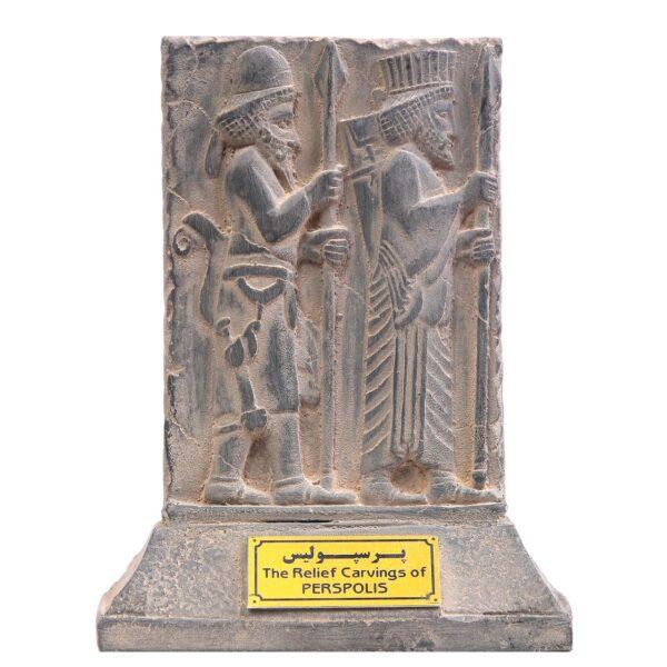 مجسمه تندیس و پیکره شهریار مدل لوح هدیه آور لیدیایی پرسپولیس کد MO980
