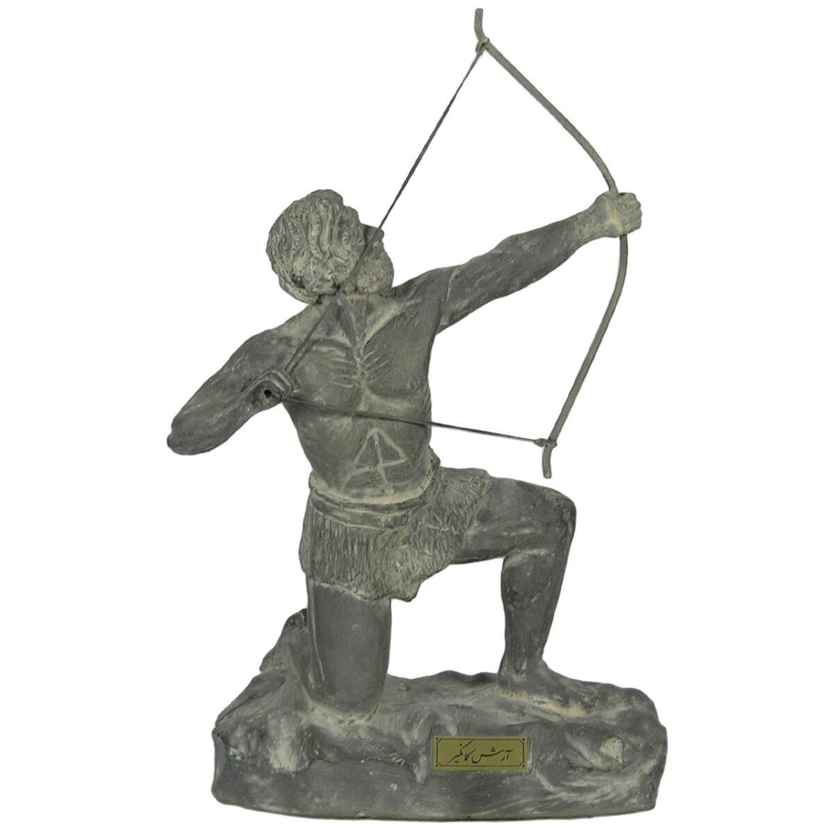 مجسمه تندیس و پیکره شهریار مدل تندیس آرش کمانگیر کد MO1600