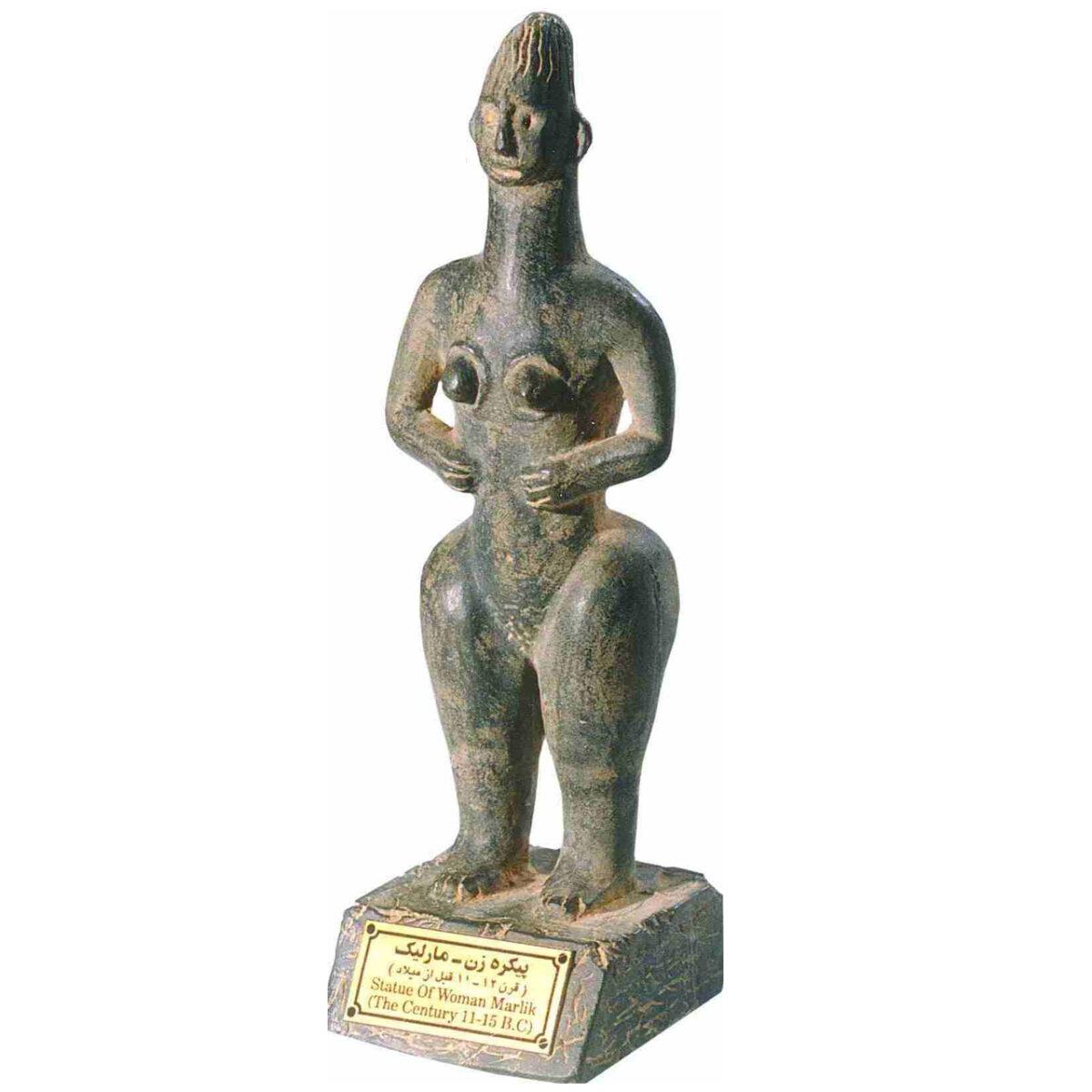 مجسمه تندیس و پیکره شهریار مدل تندیس پیکره زن مارلیک کد MO2840