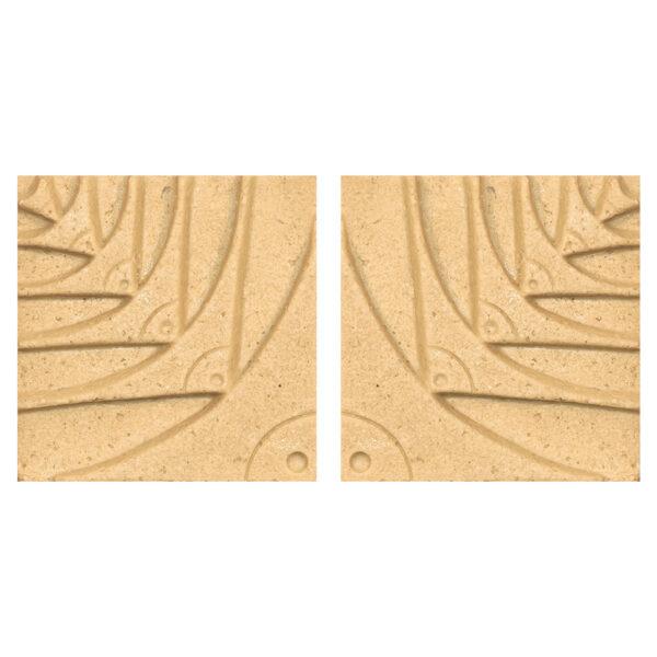 دیوارپوش تندیس و پیکره شهریار مدل آمای کد W1010-04 بسته 2 عددی