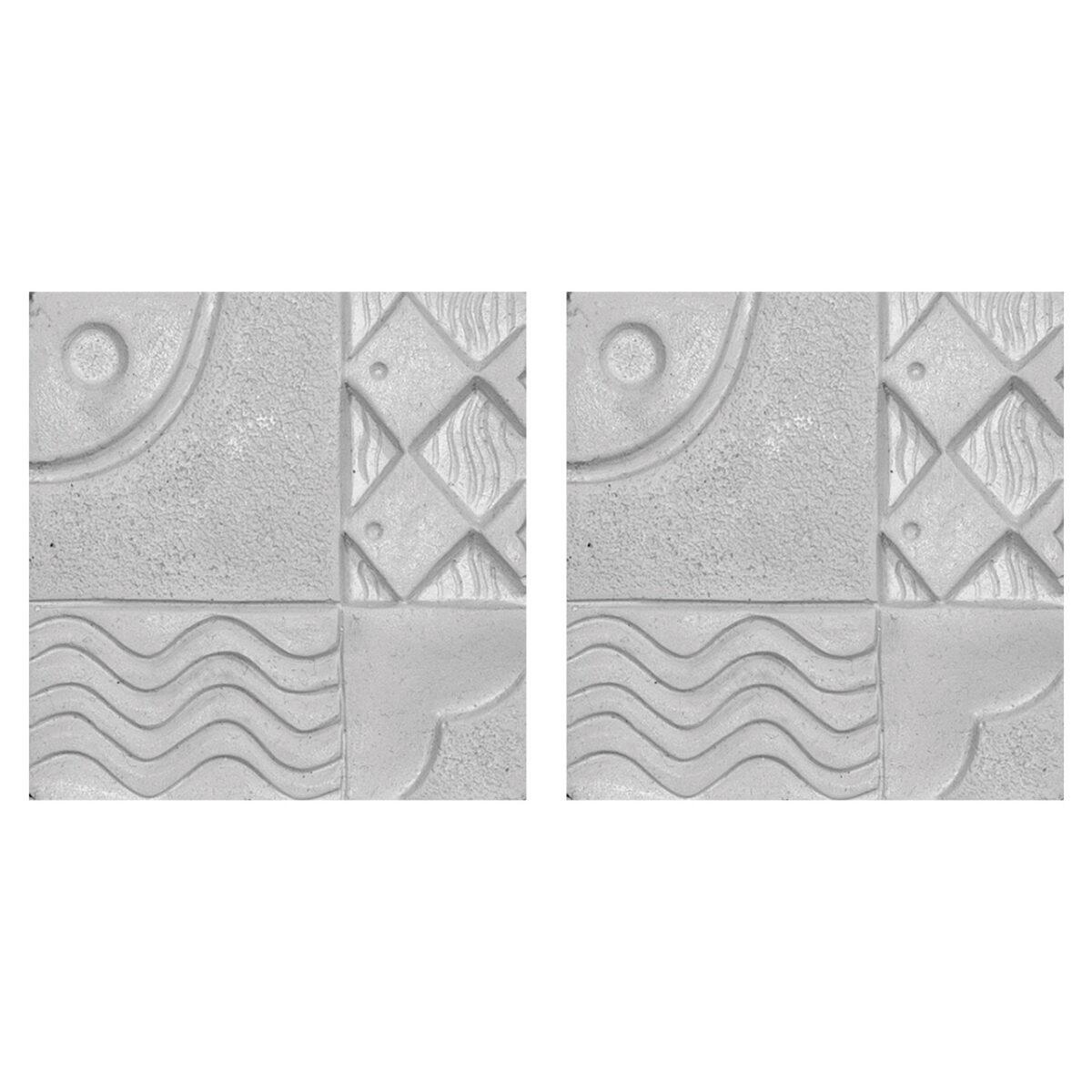 دیوارپوش تندیس و پیکره شهریار مدل آمای کد W1010-05 بسته 2 عددی
