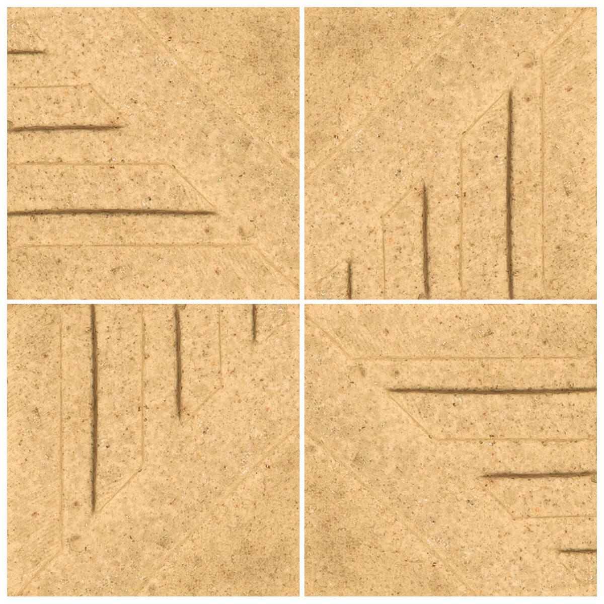دیوارپوش تندیس و پیکره شهریار مدل آمای کد W1010-06 بسته 4 عددی