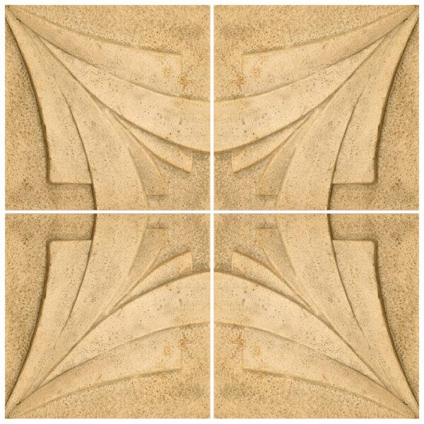 دیوارپوش تندیس و پیکره شهریار مدل آمای کد W1010-09 بسته 4 عددی