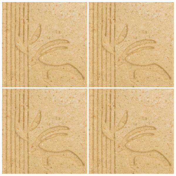 دیوارپوش تندیس و پیکره شهریار مدل آمای کد W1010-11 بسته 4 عددی