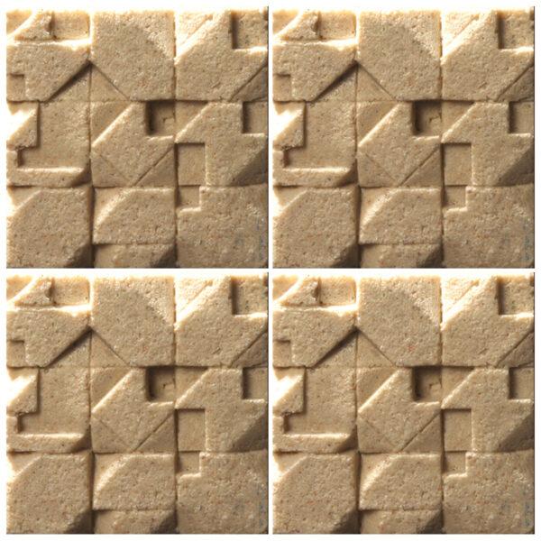 دیوارپوش تندیس و پیکره شهریار مدل آمای کد W1010-24 بسته 4 عددی