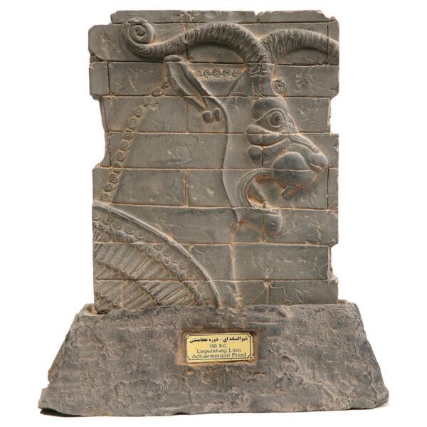 مجسمه تندیس و پیکره شهریارمدل کتیبه هدیه آور لیدیایی کد MO360 سایز متوسط