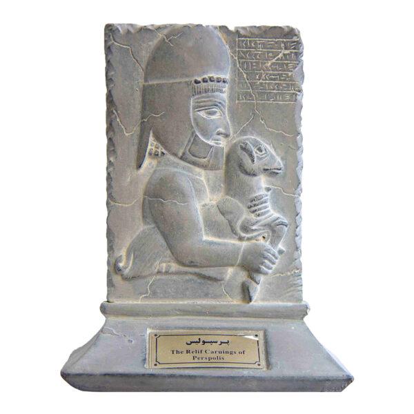 مجسمه تندیس و پیکره شهریار مدل لوح هدیه آور لیبیایی پرسپولیس کد MO1170