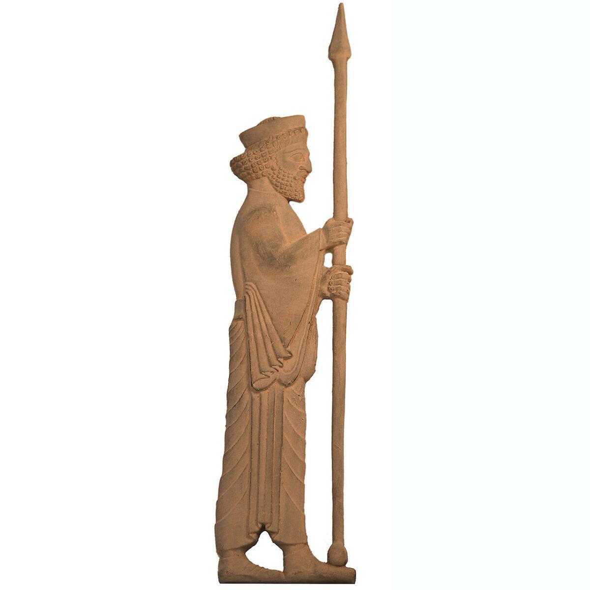 مجسمه تندیس و پیکره شهریار مدل سرباز هخامنشی کنسول کد MO1520