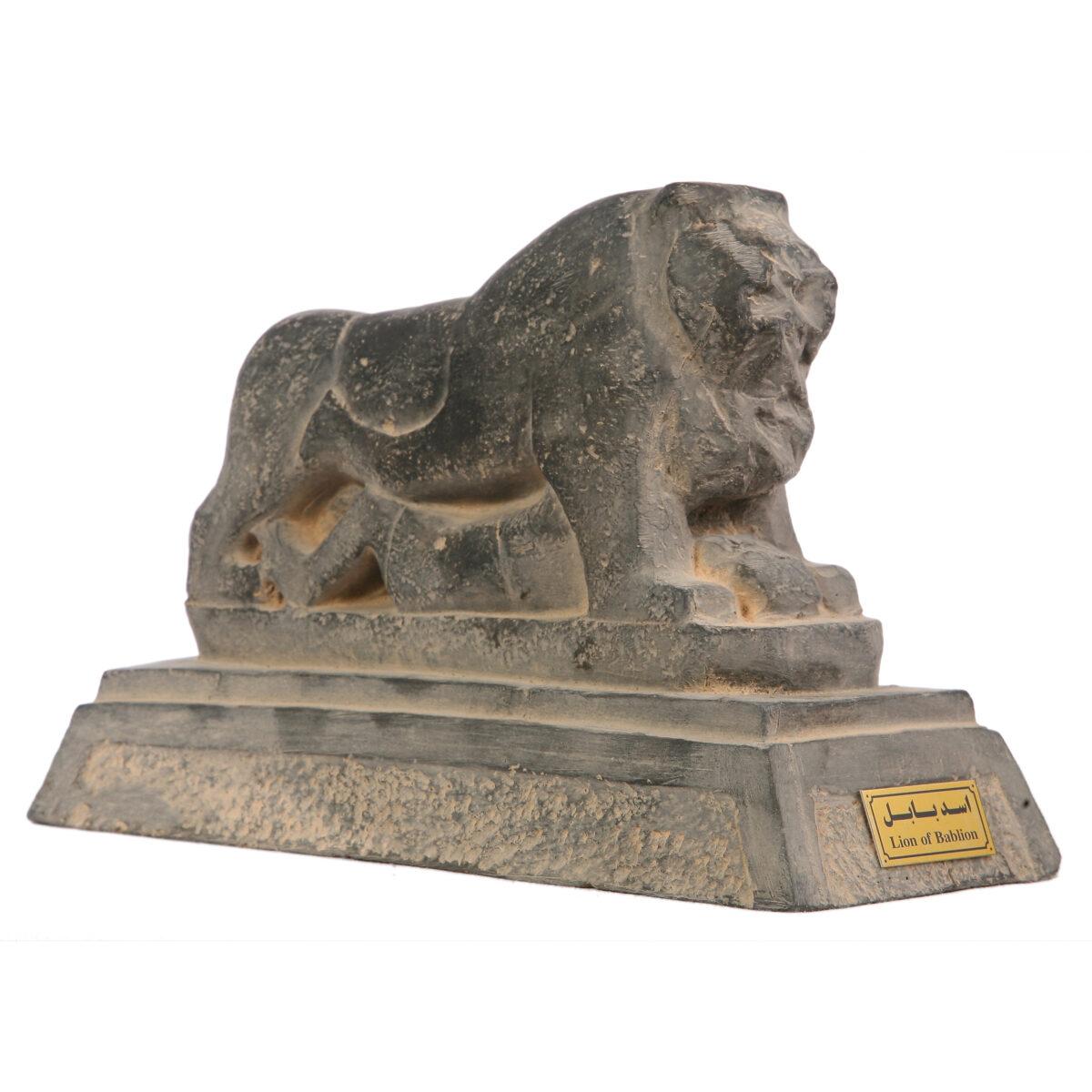 مجسمه تندیس و پیکره شهریار مدل شیر بابل کد MO3220