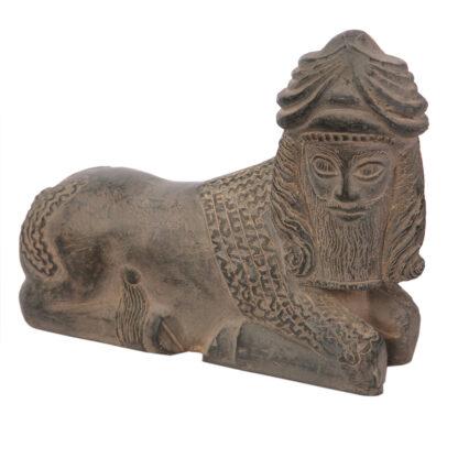 مجسمه تندیس و پیکره شهریار مدل گاو لاماسو بابل کد MO3310